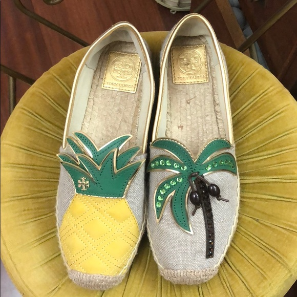 Tory Burch Shoes   Castaway Palm Tree Sandal Espadrille   Poshmark 27767a85312b